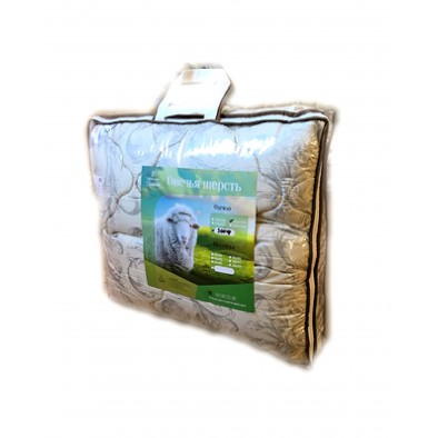 Одеяло овечья шерсть - 300 гм2 поплекс